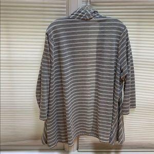 Susan Graver Jackets & Coats - Susan Graver grey white stripe jacket xl $15